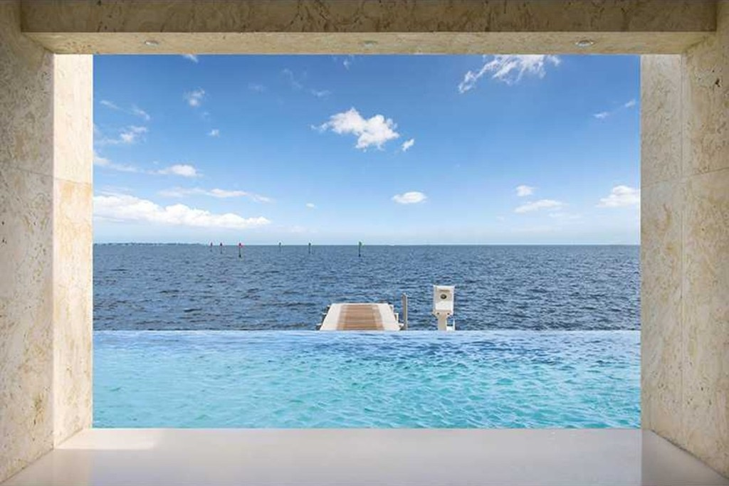 bicayne bay mansion for sale with inifinity pool